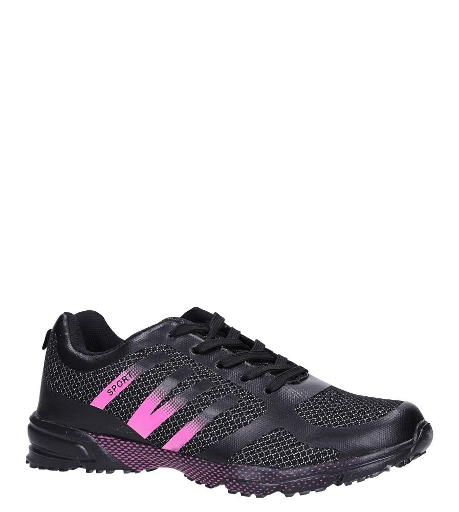 Czarne buty sportowe sznurowane Casu RJ-316-2 czarny