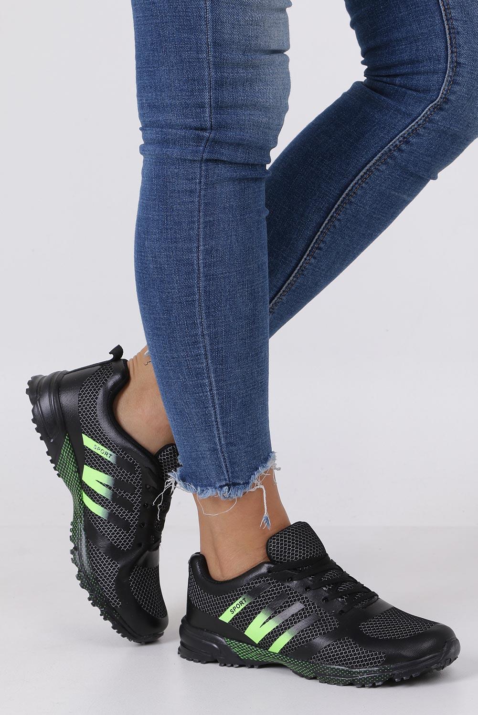 Czarne buty sportowe sznurowane Casu RJ-316-3
