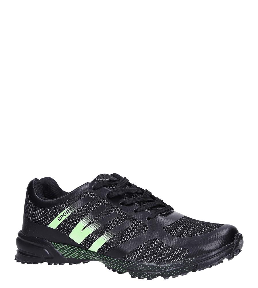 Czarne buty sportowe sznurowane Casu RJ-316-3 czarny