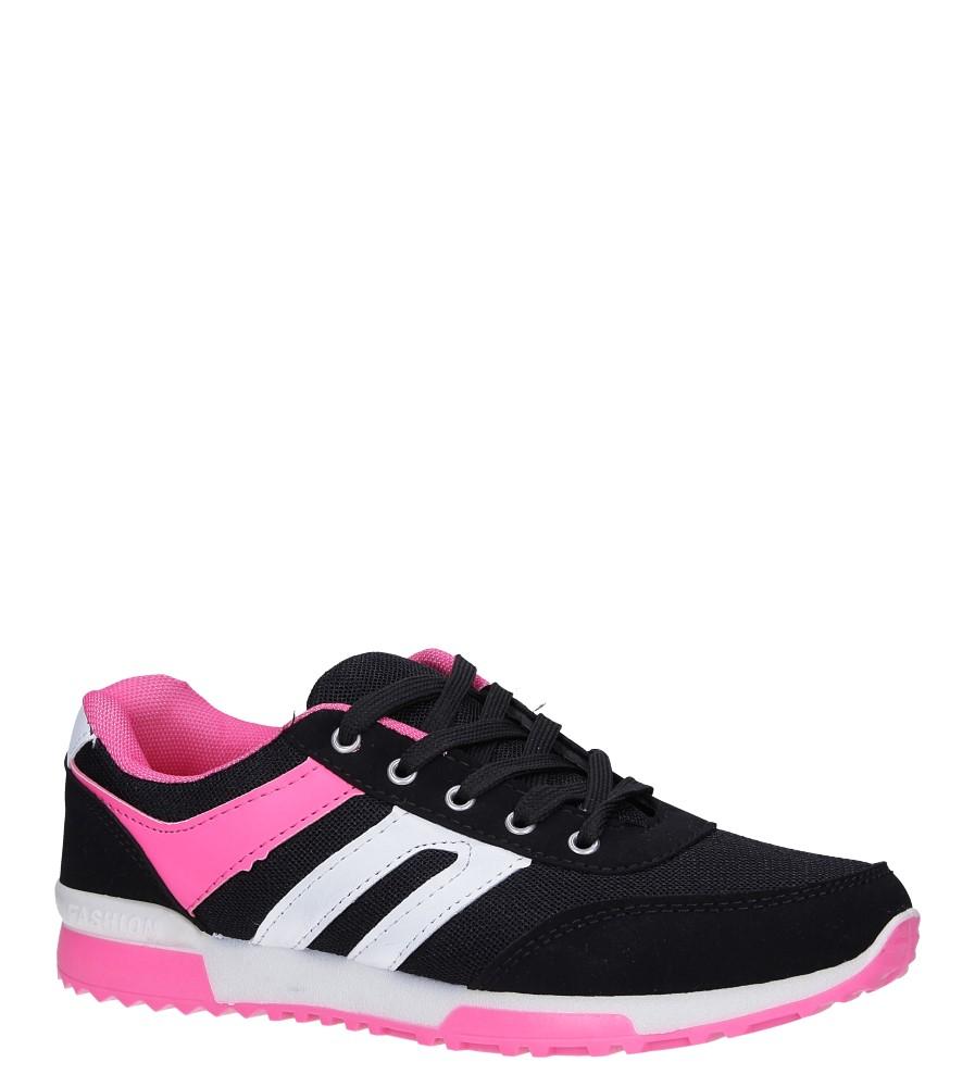 Czarne buty sportowe sznurowane Casu RW-615
