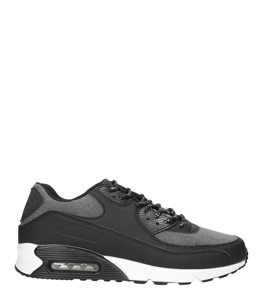 Czarne buty sportowe sznurowane Casu U717-1