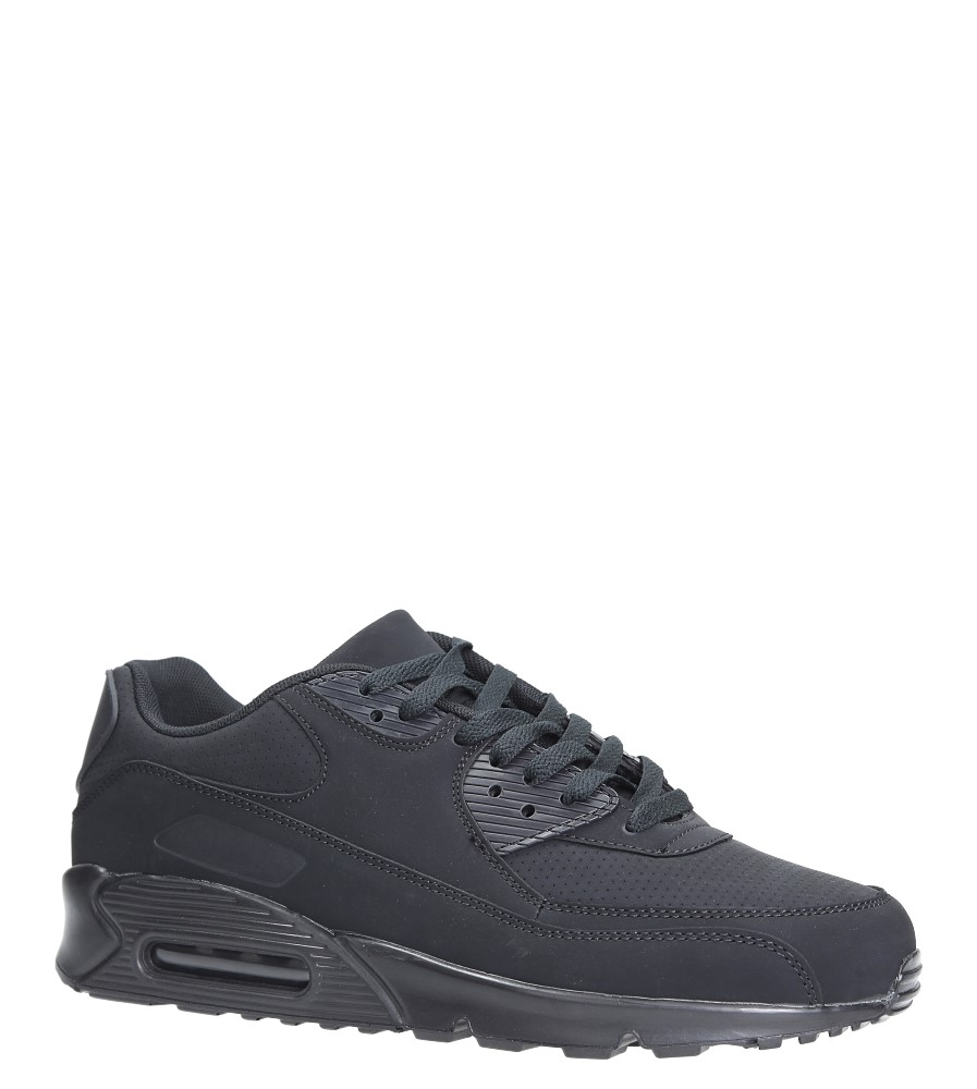 Czarne buty sportowe sznurowane Casu U718-13 producent Casu
