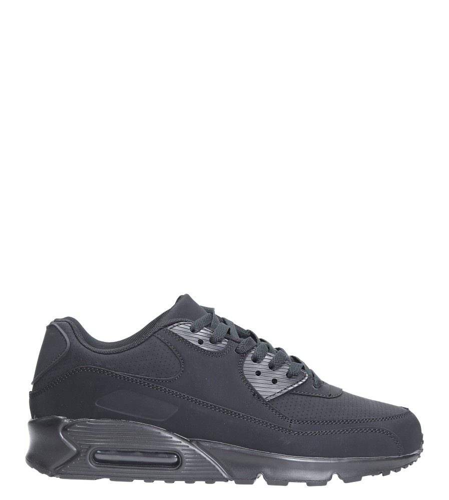 Czarne buty sportowe sznurowane Casu U718-13