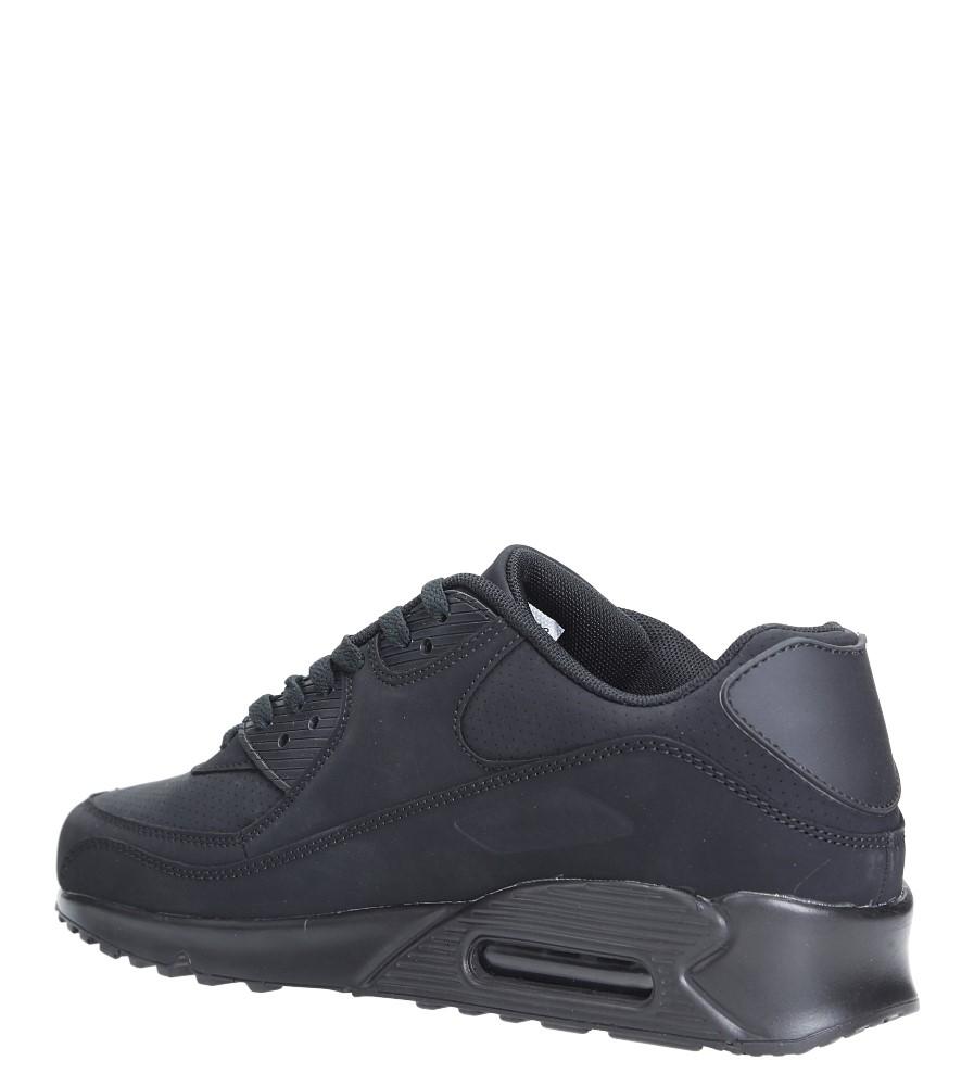 Czarne buty sportowe sznurowane Casu U718-13 sezon Całoroczny