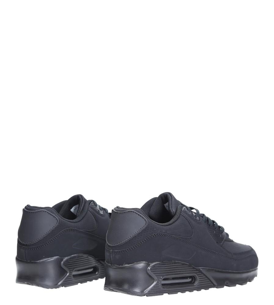 Czarne buty sportowe sznurowane Casu U718-13 kolor czarny