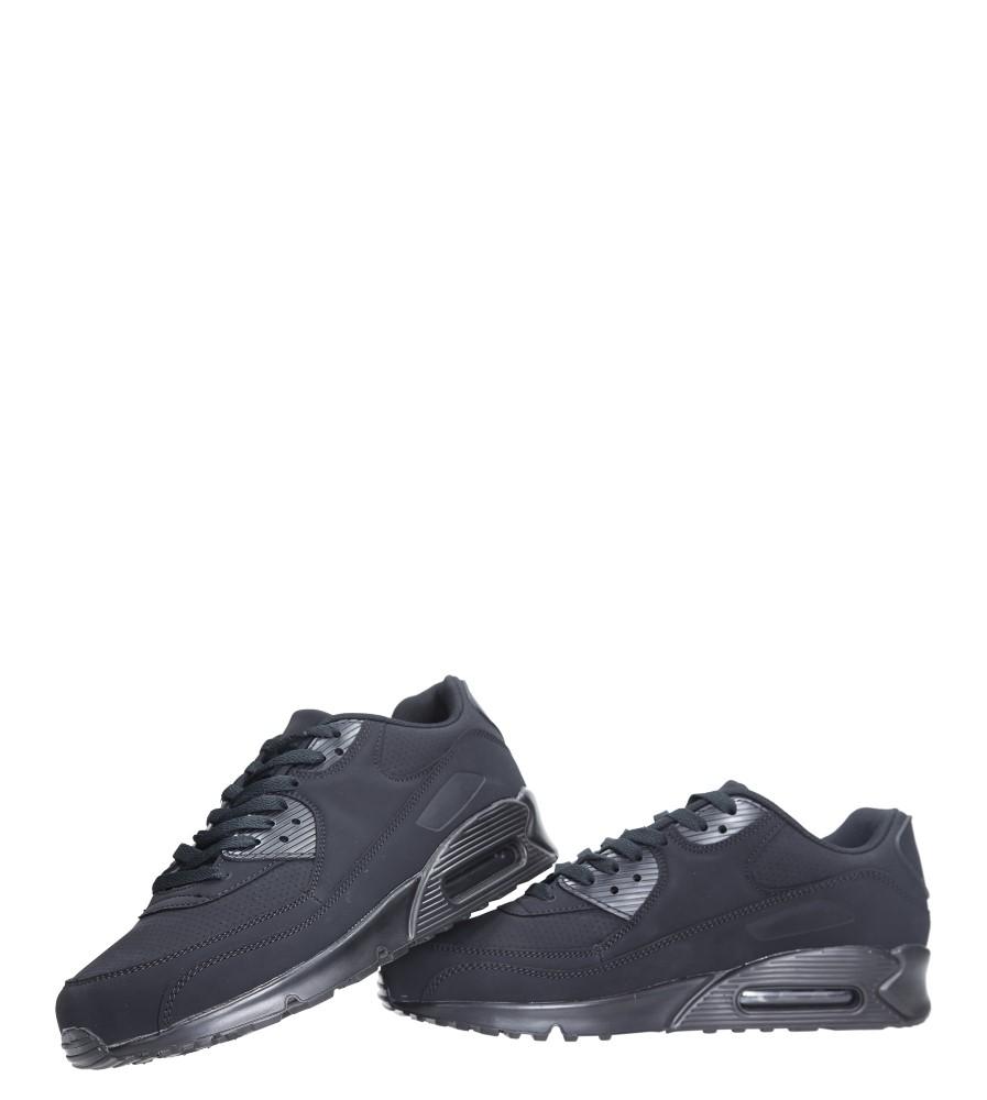 Czarne buty sportowe sznurowane Casu U718-13 wysokosc_obcasa 4 cm