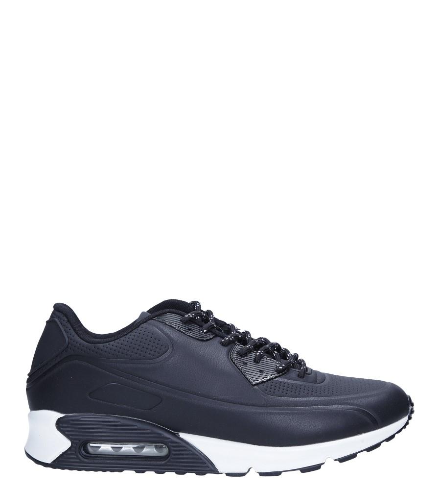 Czarne buty sportowe sznurowane Casu U808-1