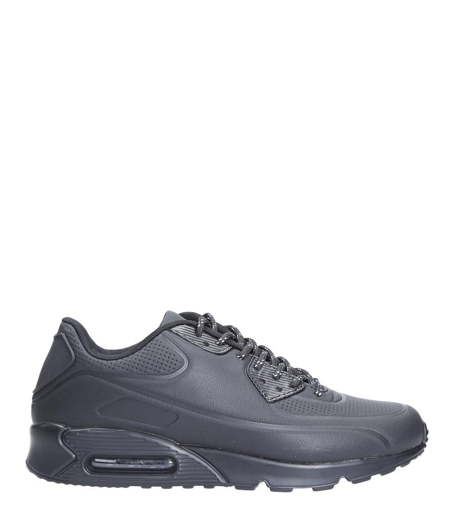 Czarne buty sportowe sznurowane Casu U808-9