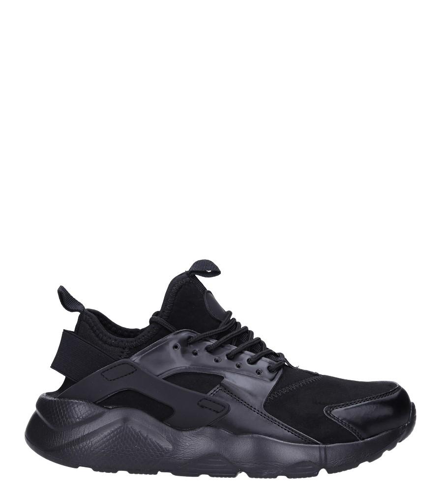 Czarne buty sportowe sznurowane Casu U8102-1