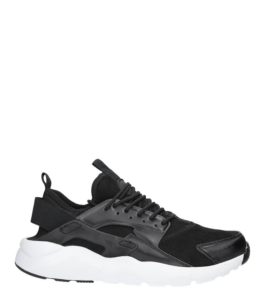 Czarne buty sportowe sznurowane Casu U8102-9