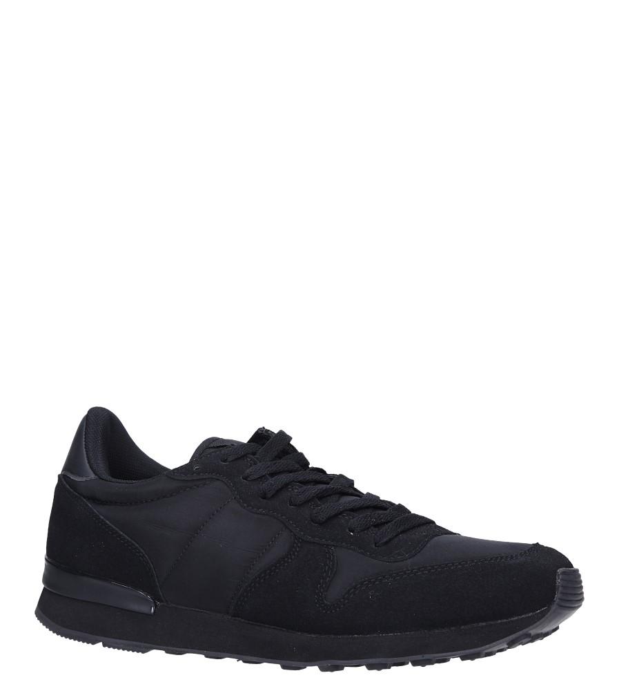 Czarne buty sportowe sznurowane Casu U8106-1