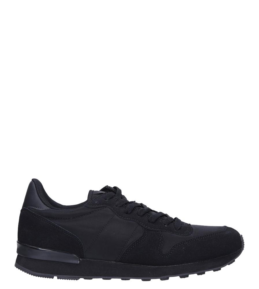 Czarne buty sportowe sznurowane Casu U8106-1 model U8106-1