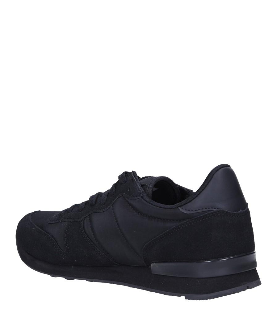 Czarne buty sportowe sznurowane Casu U8106-1 sezon Całoroczny