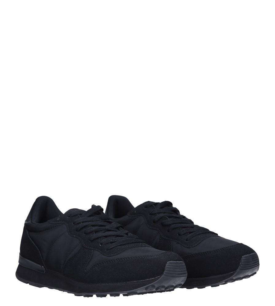 Czarne buty sportowe sznurowane Casu U8106-1 kolor czarny