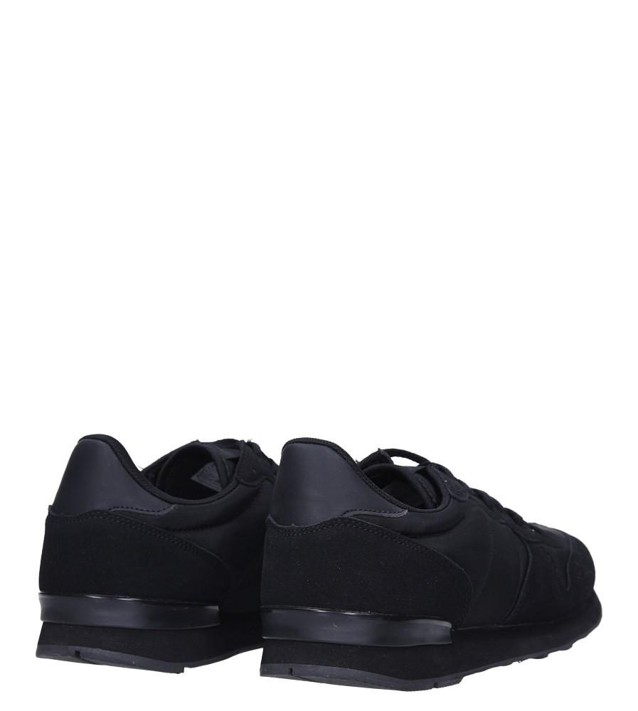 Czarne buty sportowe sznurowane Casu U8106-1 wysokosc_platformy 2 cm