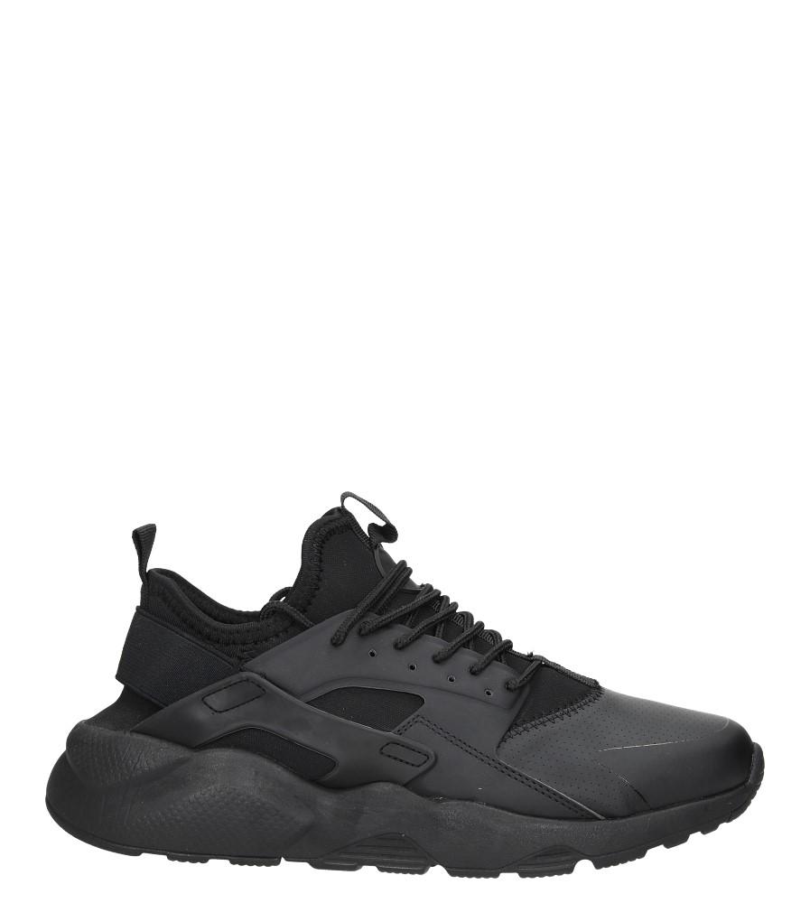 Czarne buty sportowe sznurowane Casu U818-98