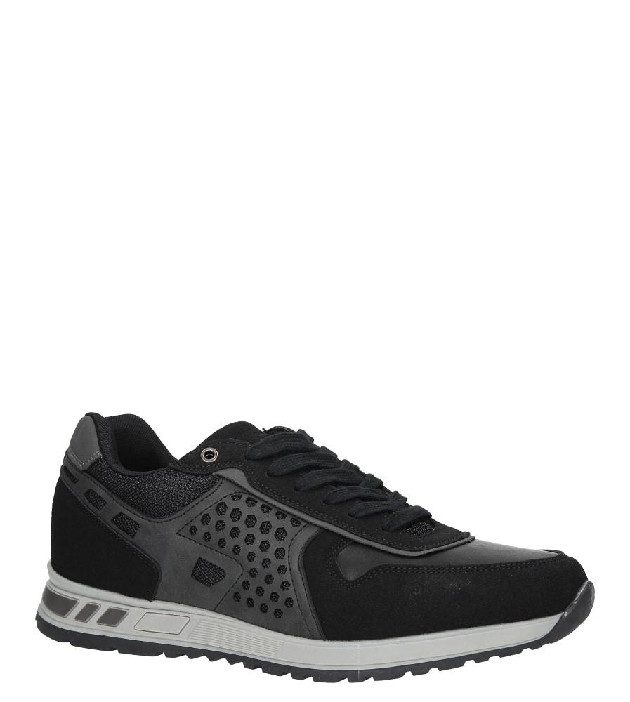 Czarne buty sportowe sznurowane Casu U8506-1 producent Casu