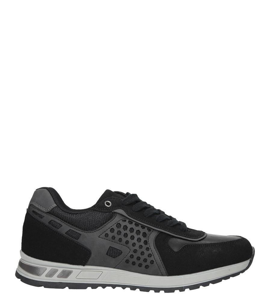Czarne buty sportowe sznurowane Casu U8506-1