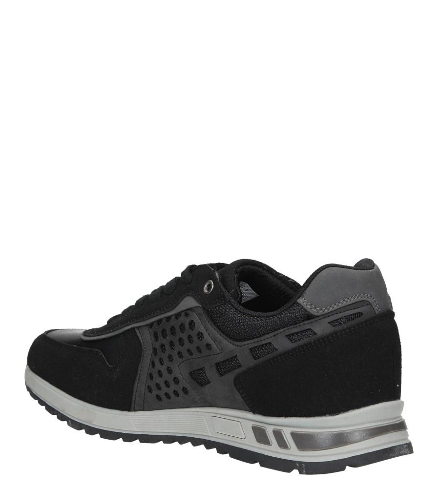 Czarne buty sportowe sznurowane Casu U8506-1 sezon Całoroczny