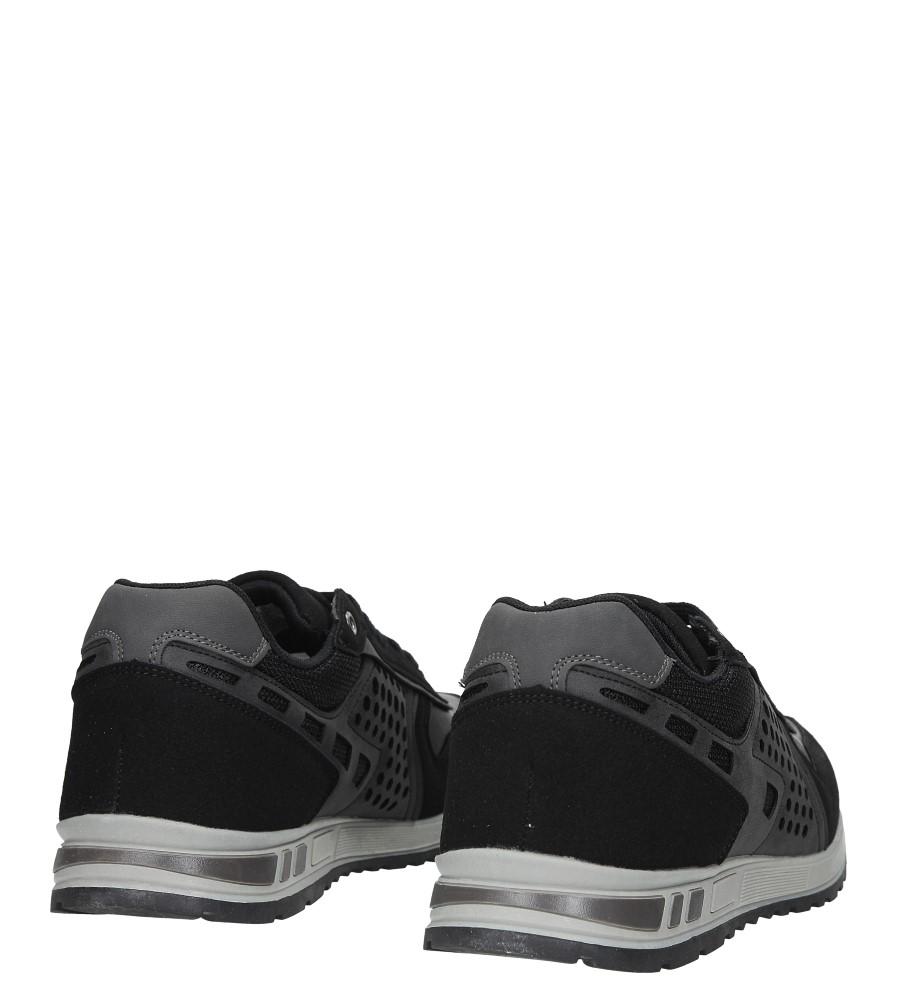 Czarne buty sportowe sznurowane Casu U8506-1 kolor czarny