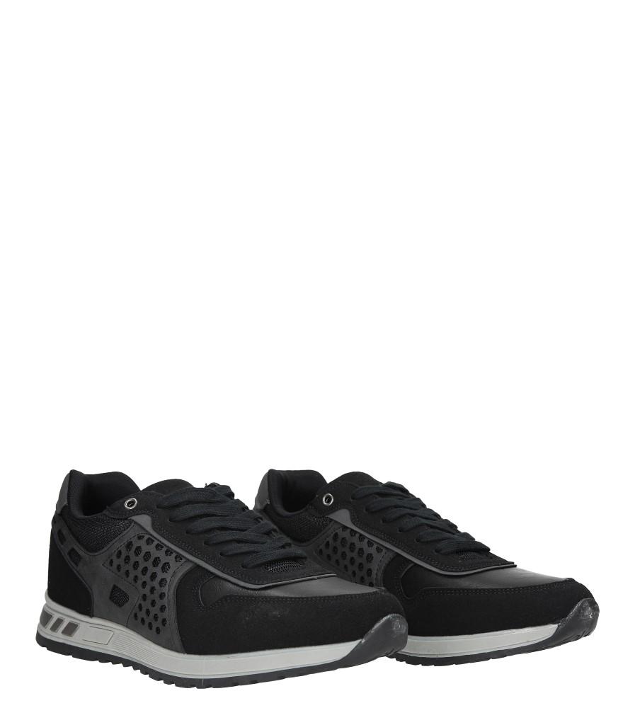 Czarne buty sportowe sznurowane Casu U8506-1 wysokosc_platformy 1.5 cm