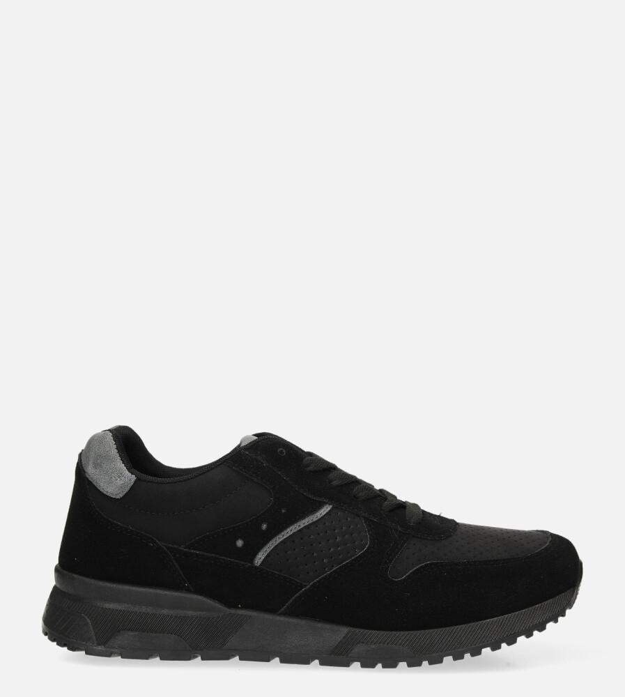 Czarne buty sportowe sznurowane Casu US11025-1 czarny