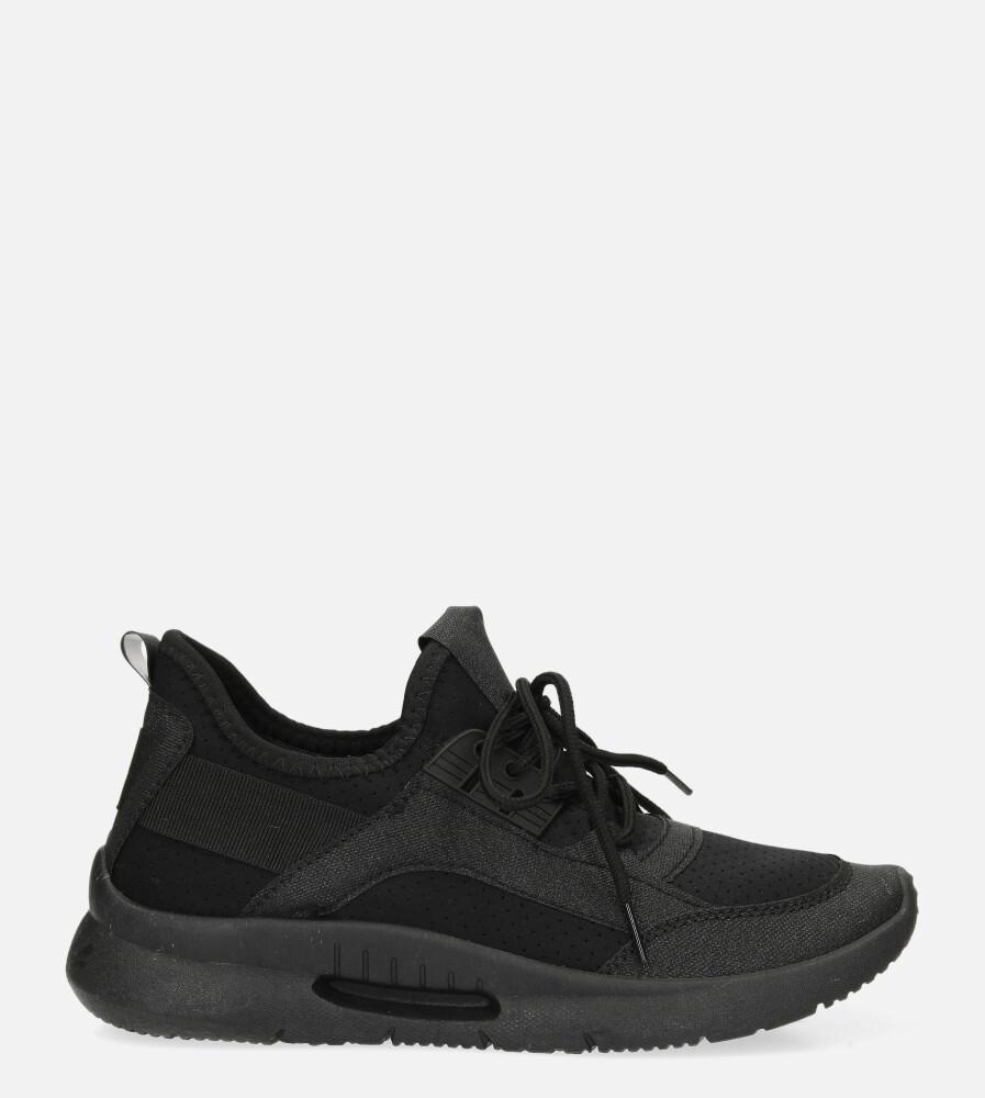 Czarne buty sportowe sznurowane Casu US12001-1 czarny
