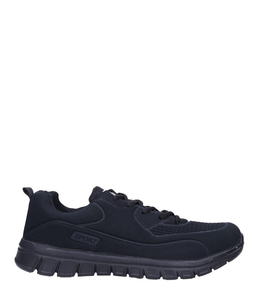 Czarne buty sportowe sznurowane Casu X-60