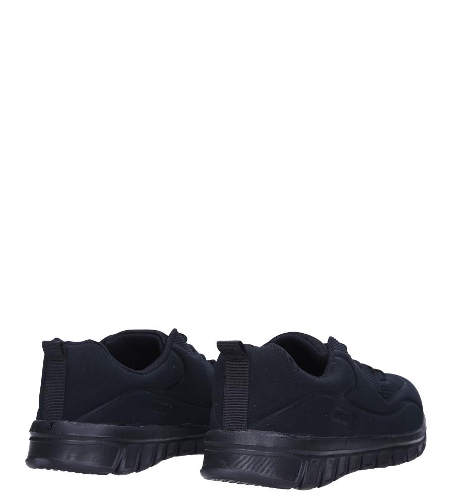 f0664cb551d7 ... Czarne buty sportowe sznurowane Casu X-60 wysokosc platformy 2 cm ...