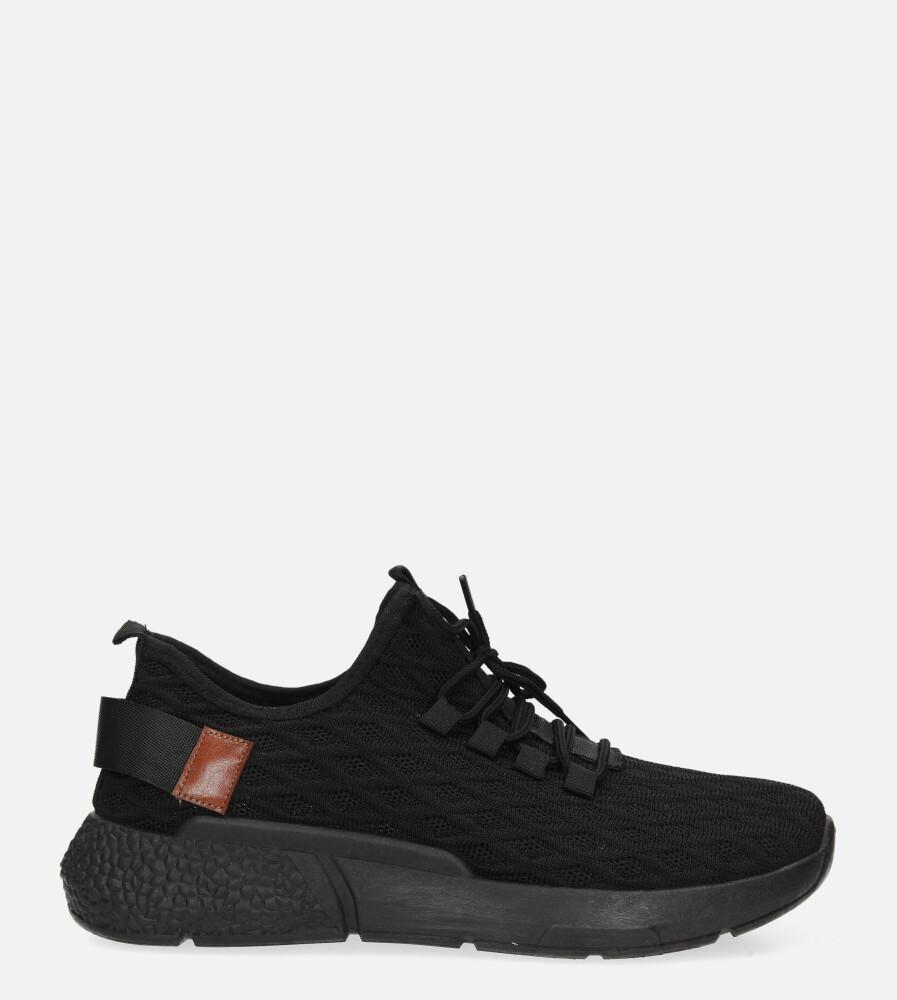 Czarne buty sportowe sznurowane Casu YZ05-1 czarny