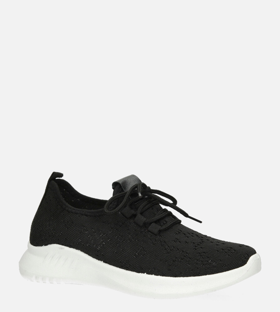 Czarne buty sportowe sznurowane Casu YZ09-1 czarny