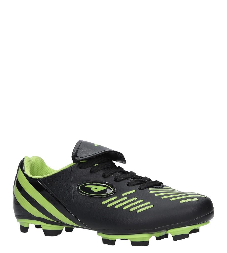 Czarne buty sportowe sznurowane korki Casu B212A-2