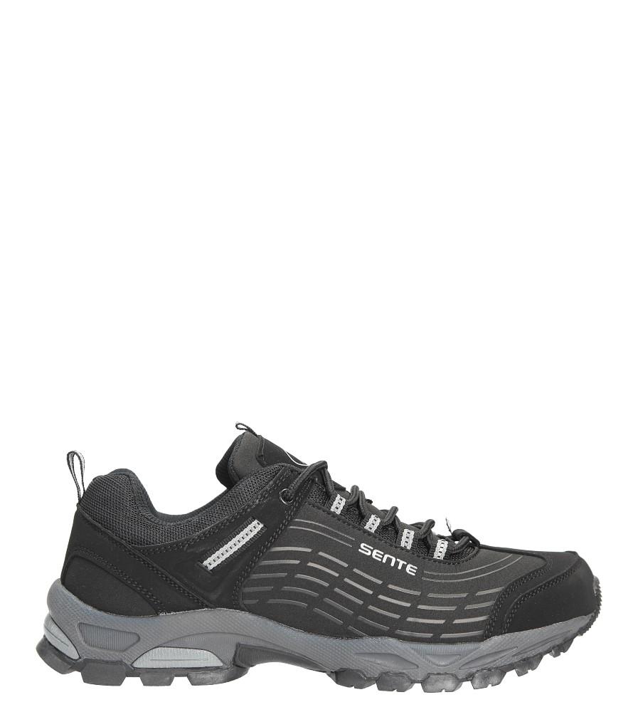 Czarne buty sportowe sznurowane softshell Casu A1528-1