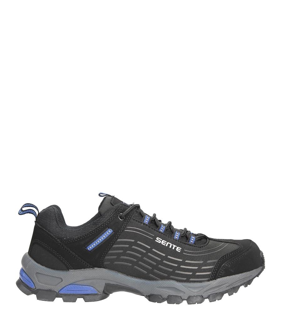 Czarne buty sportowe sznurowane softshell Casu A1528-2