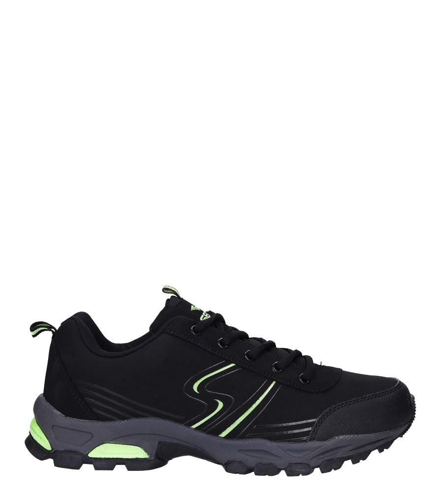 Czarne buty sportowe sznurowane softshell Casu A1808-2