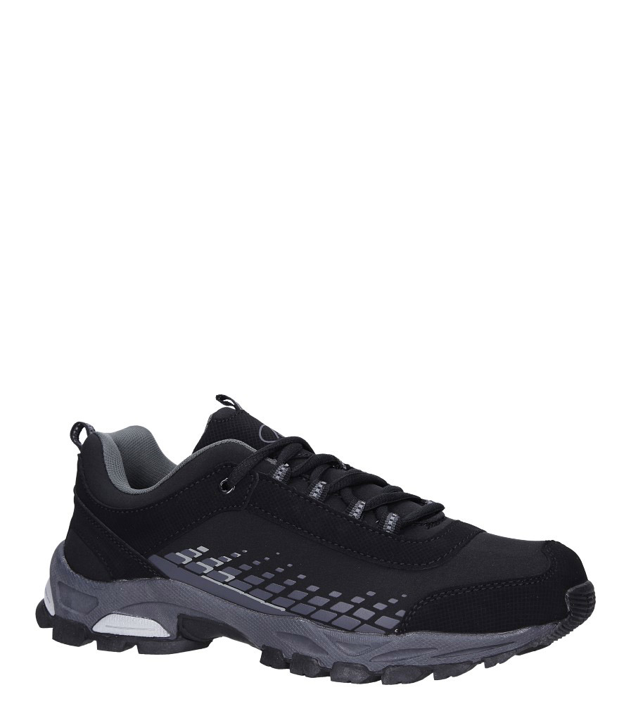 Czarne buty sportowe sznurowane softshell Casu A1809-1