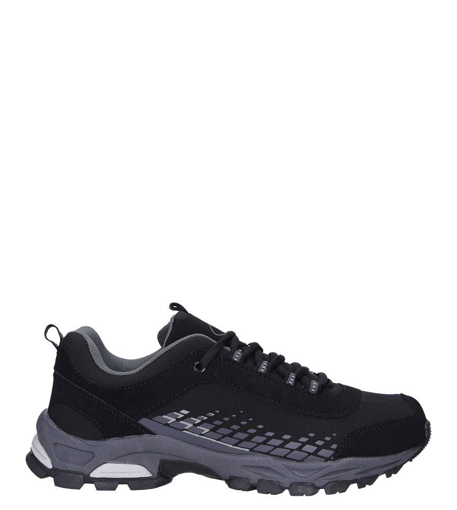 Czarne buty sportowe sznurowane softshell Casu A1809-1 model A1809-1