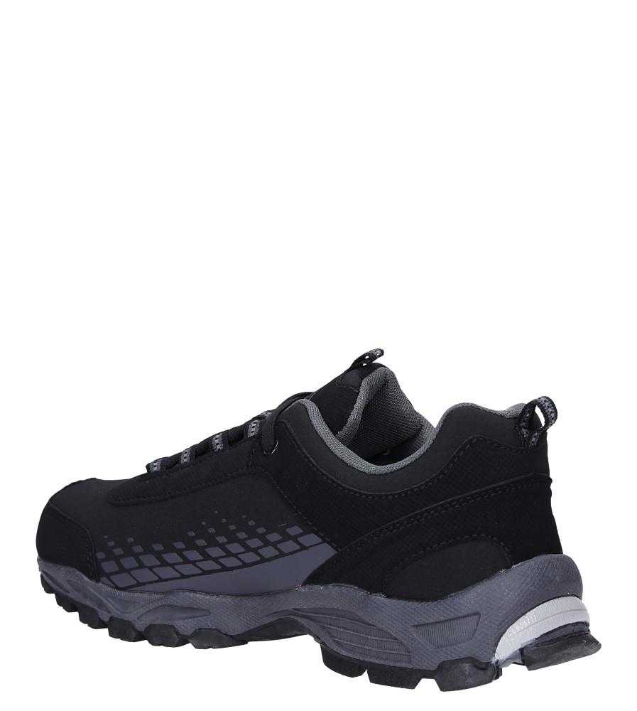 Czarne buty sportowe sznurowane softshell Casu A1809-1 sezon Całoroczny
