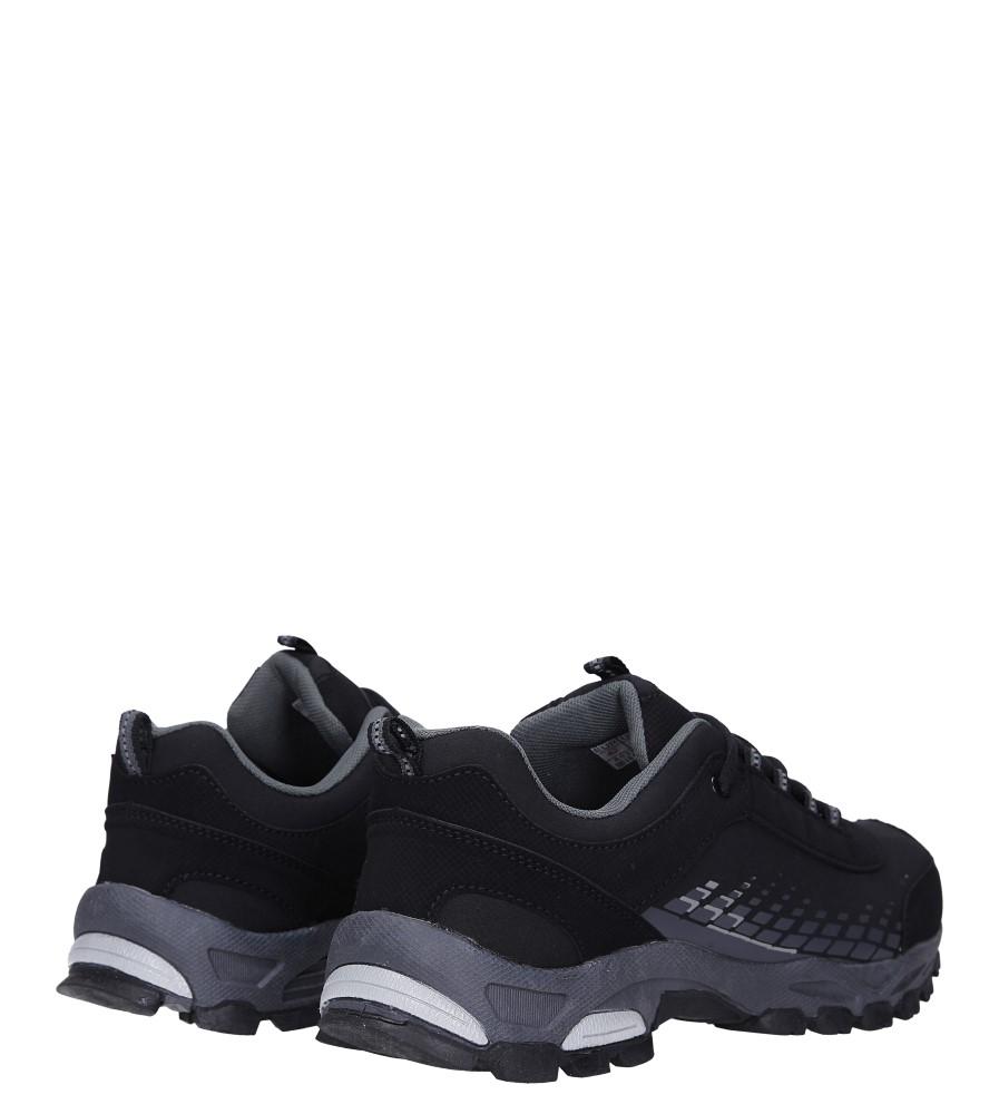Czarne buty sportowe sznurowane softshell Casu A1809-1 wysokosc_obcasa 3 cm