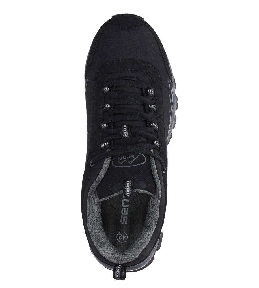 Czarne buty sportowe sznurowane softshell Casu A1809-1 wysokosc_platformy 1 cm