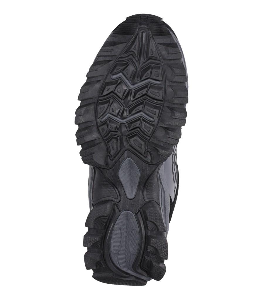 Czarne buty sportowe sznurowane softshell Casu A1809-1 wys_calkowita_buta 10 cm