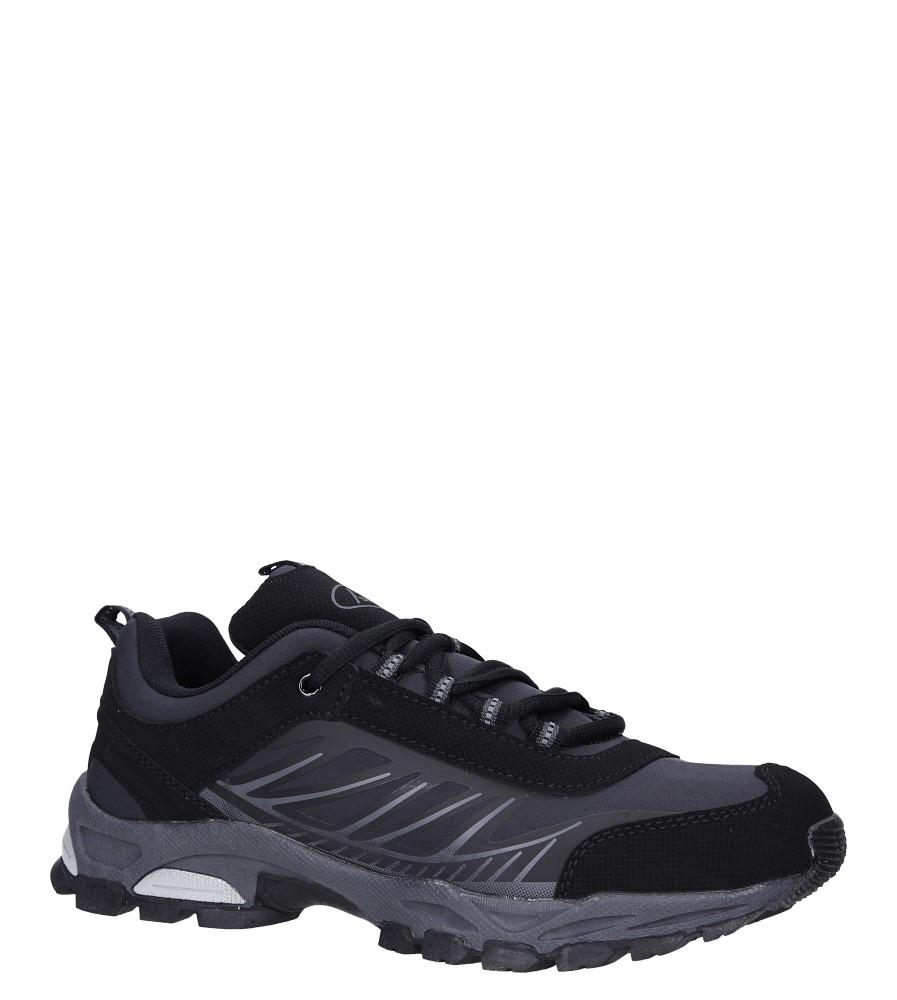 Czarne buty sportowe sznurowane softshell Casu A1810-1
