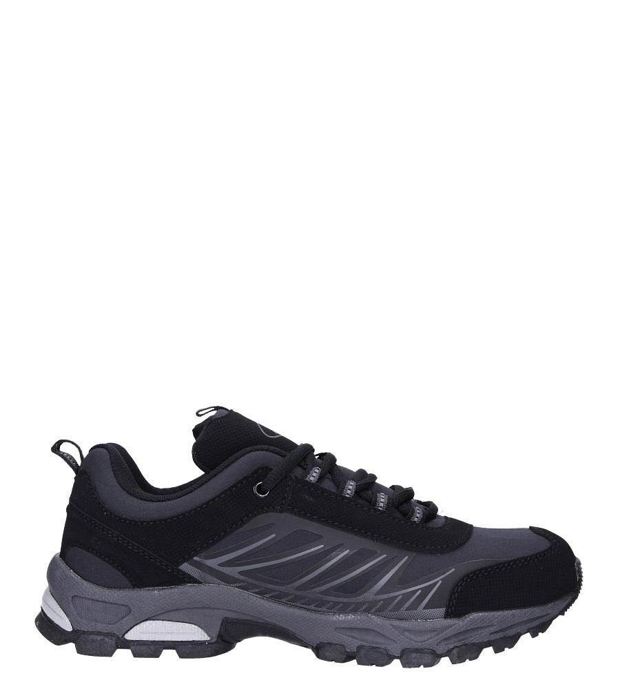 Czarne buty sportowe sznurowane softshell Casu A1810-1 model A1810-1