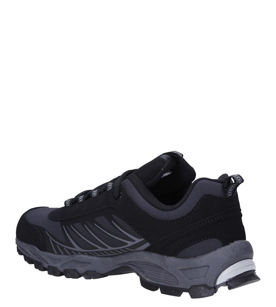 Czarne buty sportowe sznurowane softshell Casu A1810-1 sezon Całoroczny