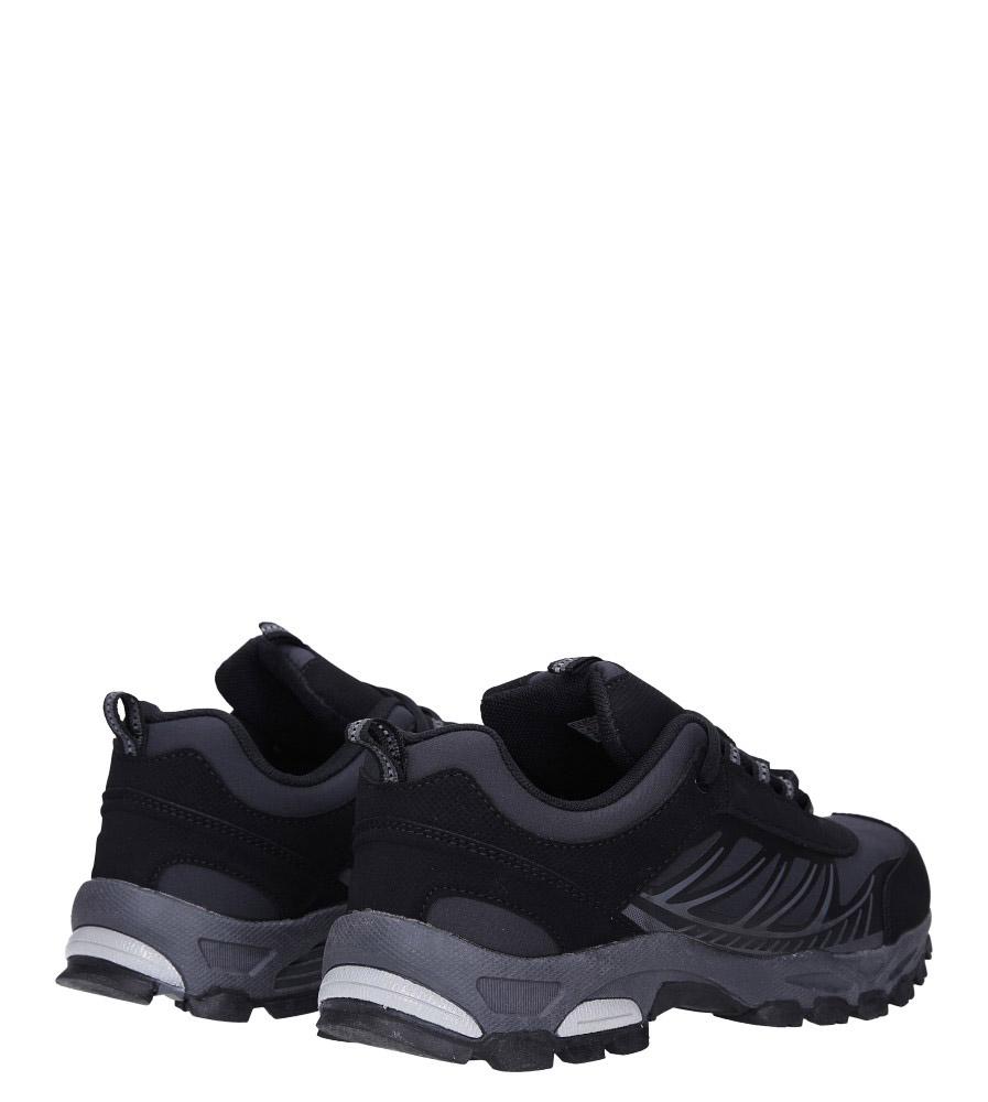 Czarne buty sportowe sznurowane softshell Casu A1810-1 wysokosc_obcasa 3 cm