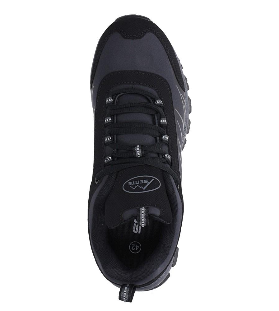 Czarne buty sportowe sznurowane softshell Casu A1810-1 wysokosc_platformy 1 cm