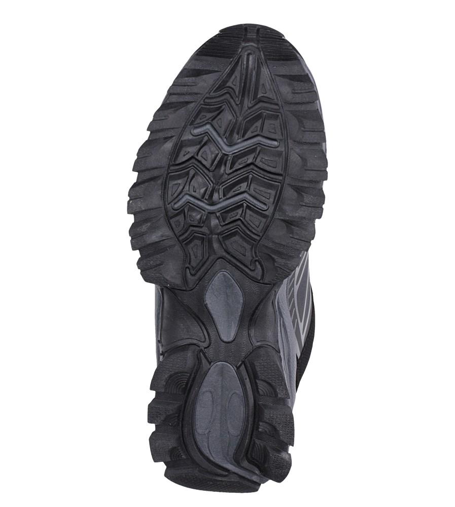 Czarne buty sportowe sznurowane softshell Casu A1810-1 wys_calkowita_buta 10 cm