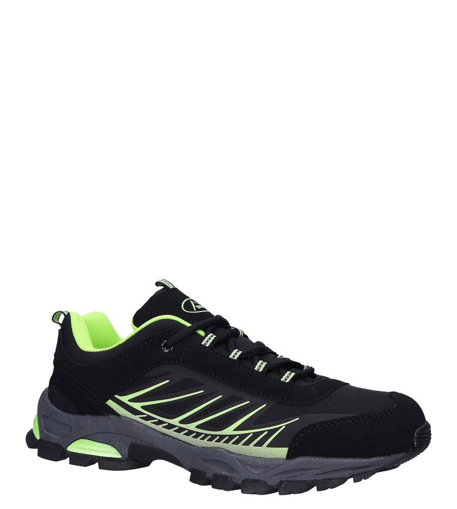 Czarne buty sportowe sznurowane softshell Casu A1810-2
