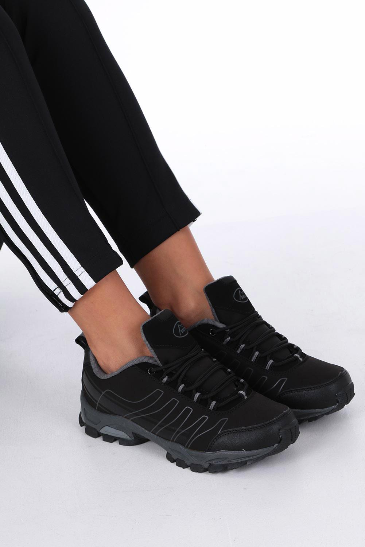 Czarne buty sportowe sznurowane softshell Casu B1531-1 czarny
