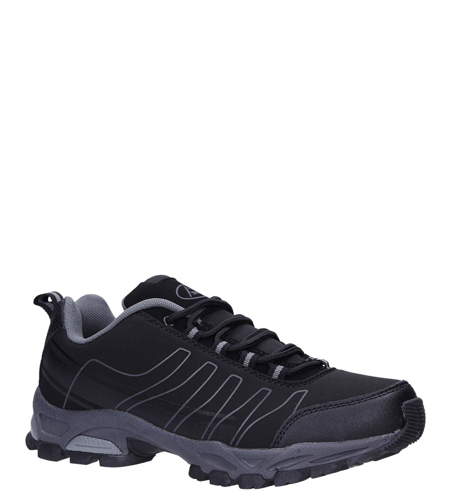 Czarne buty sportowe sznurowane softshell Casu B1531-1 model B1531-1